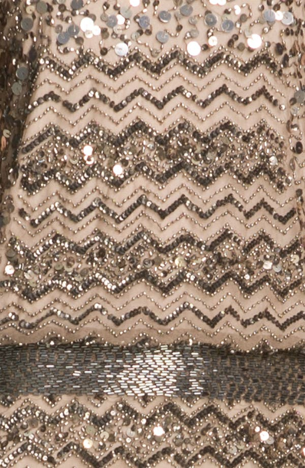 Alternate Image 3  - Adrianna Papell Embellished Zigzag Mesh Dress