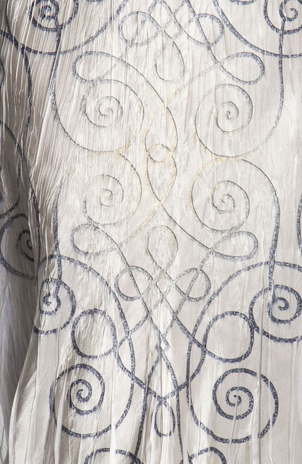 Alternate Image 4  - Komarov Swirl Print Textured Charmeuse Dress