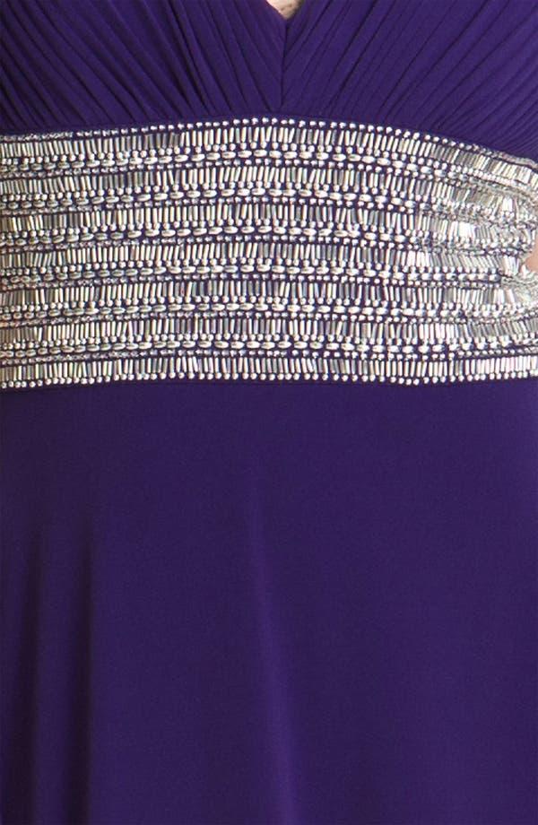 Alternate Image 3  - JS Boutique Beaded Waist Jersey Gown