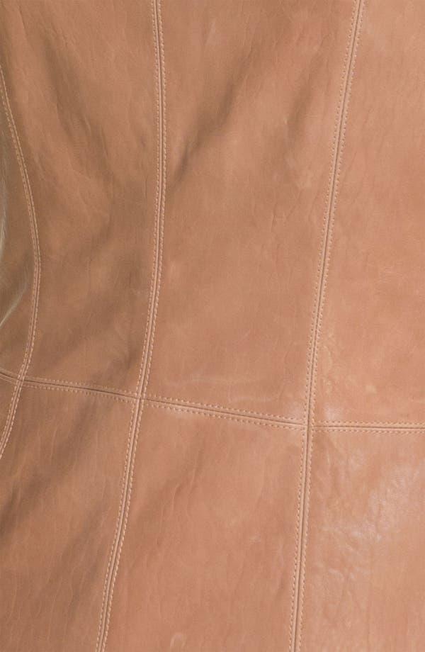Alternate Image 3  - Veda Shawl Collar Leather Jacket
