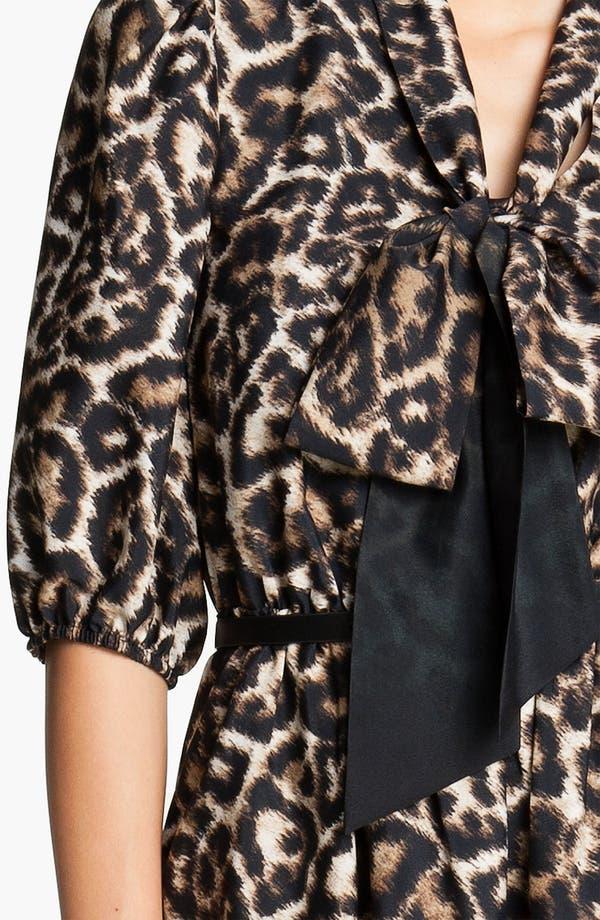 Alternate Image 3  - Vince Camuto Leopard Print Tie Front Shirt Dress