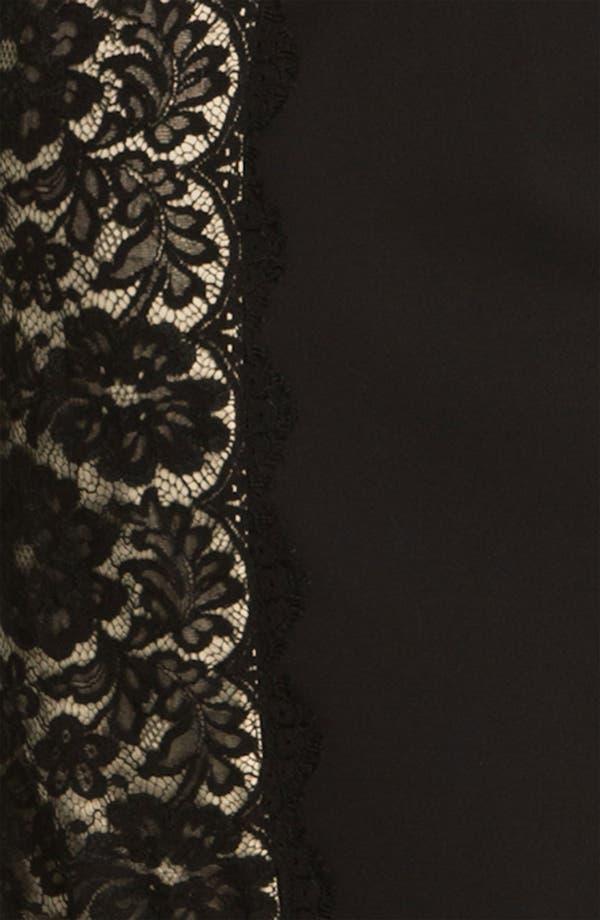 Alternate Image 3  - Aidan Mattox Lace Panel Woven Sheath Dress