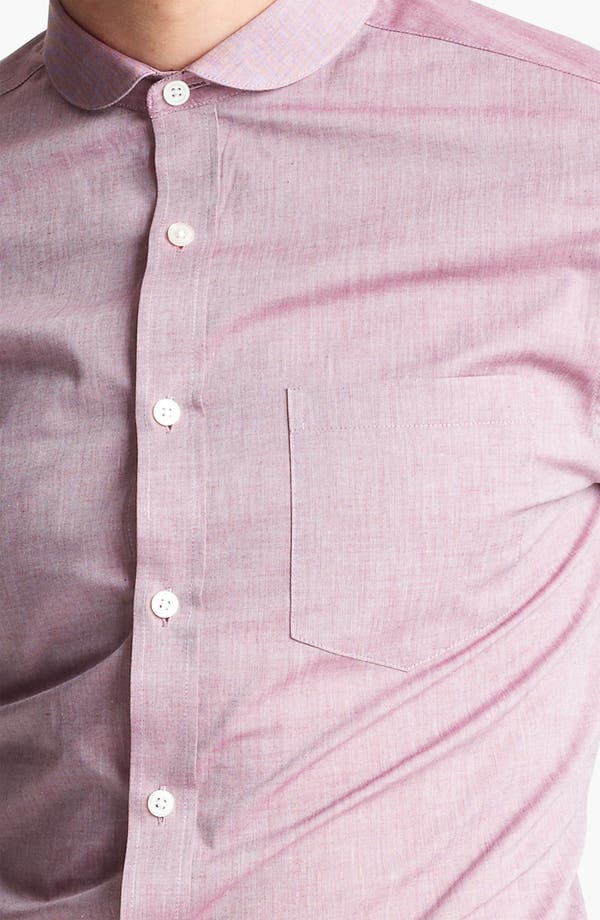 Alternate Image 3  - Topman Chambray Extra Trim Woven Dress Shirt