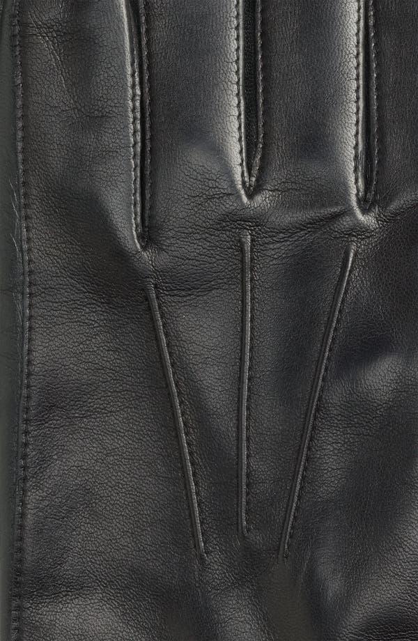 Alternate Image 2  - John W. Nordstrom® Cashmere Lined Leather Gloves