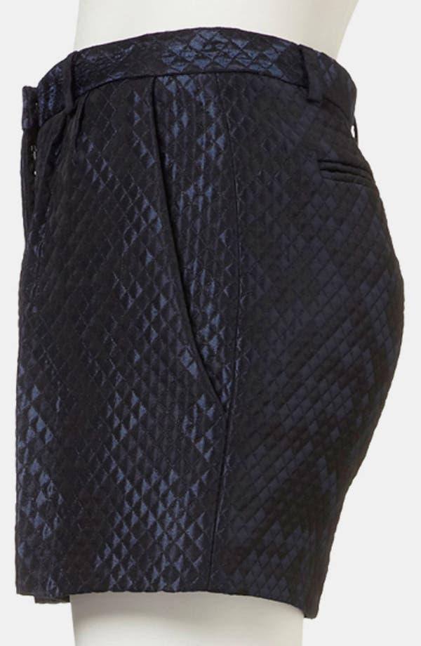Alternate Image 4  - Topshop Boutique Lustrous Quilted Shorts