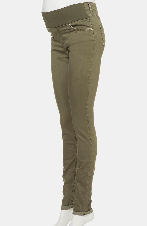 Alternate Image 2  - Topshop 'Leigh' Vintage Wash Skinny Maternity Jeans