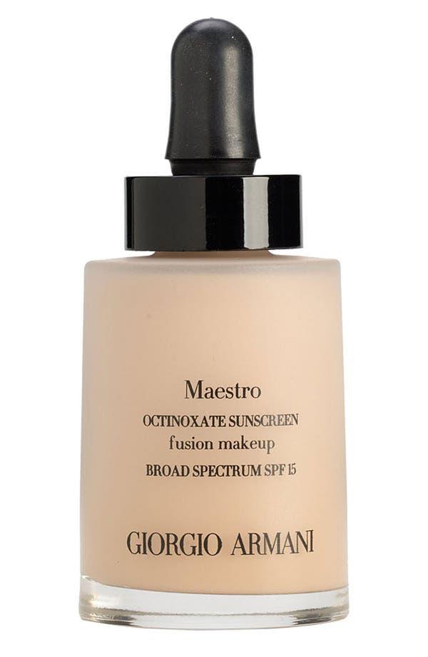 Alternate Image 1 Selected - Giorgio Armani 'Maestro' Fusion Foundation Broad Spectrum SPF 15
