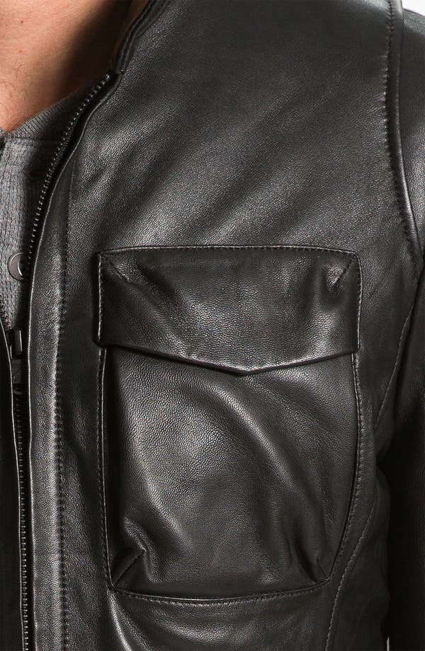 Alternate Image 3  - Robert Comstock Leather Bomber Jacket