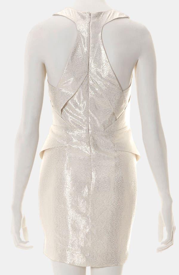 Alternate Image 2  - Topshop Origami Metallic Jacquard Dress