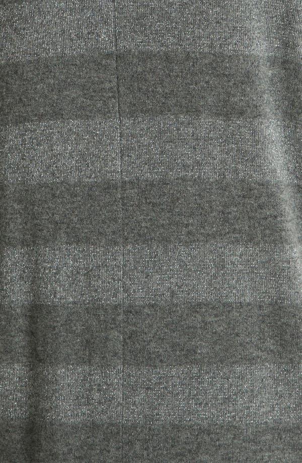 Alternate Image 3  - Nordstrom Collection Shimmer Stripe Cashmere Blend Sweater