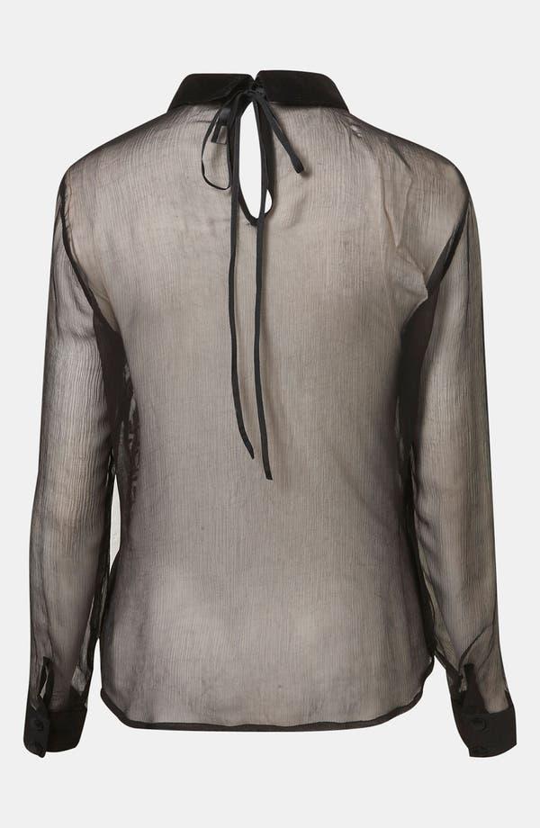 Alternate Image 2  - Topshop Embroidered Sheer Shirt