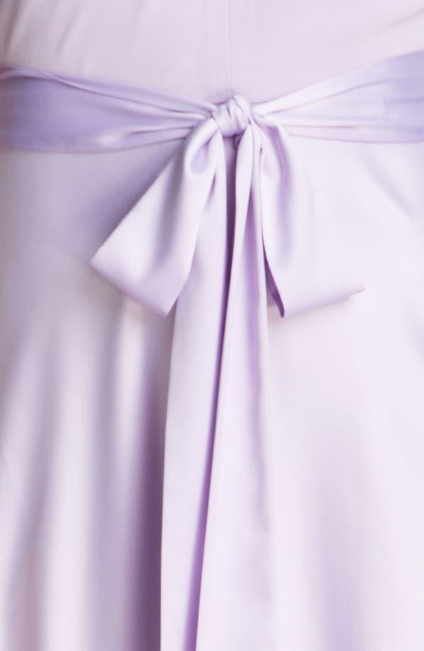 Alternate Image 3  - Donna Morgan Cross Strap Chiffon & Charmeuse Gown