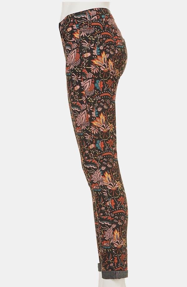 Alternate Image 4  - Topshop Moto 'Scandi' Floral Print Skinny Jeans