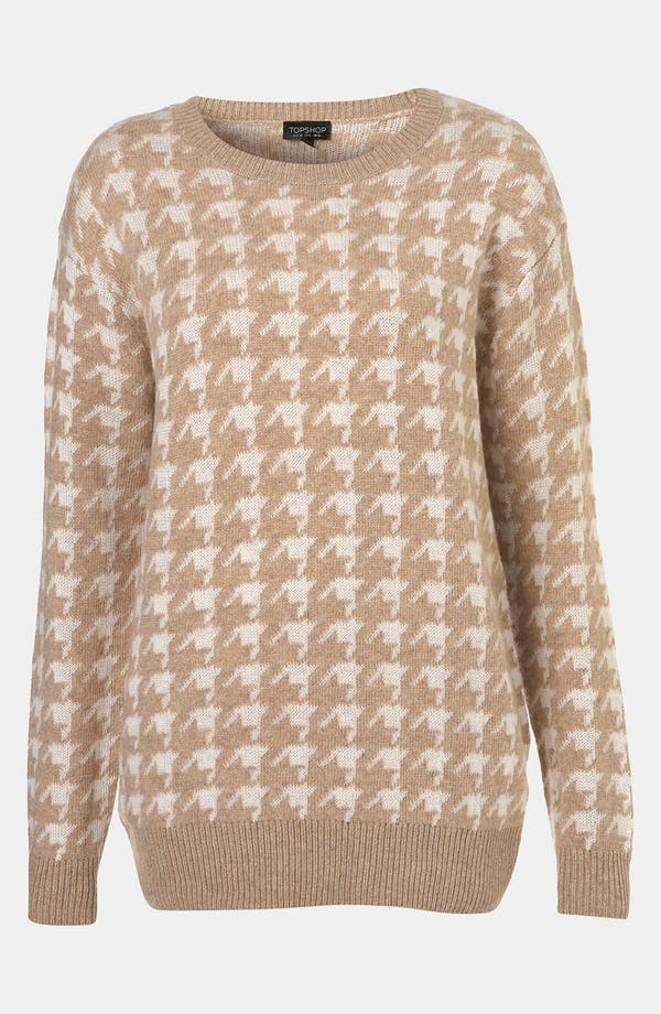 Alternate Image 1 Selected - Topshop 'Houndstooth' Sweater