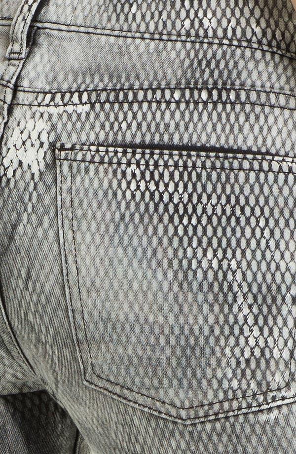 Alternate Image 3  - Current/Elliott Print Skinny Ankle Jeans (Mesh)