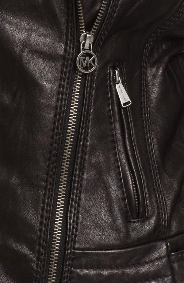 Alternate Image 3  - MICHAEL Michael Kors Asymmetrical Zip Leather Jacket