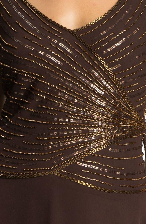 Alternate Image 3  - J Kara Embellished V-Neck Bodice Chiffon Gown