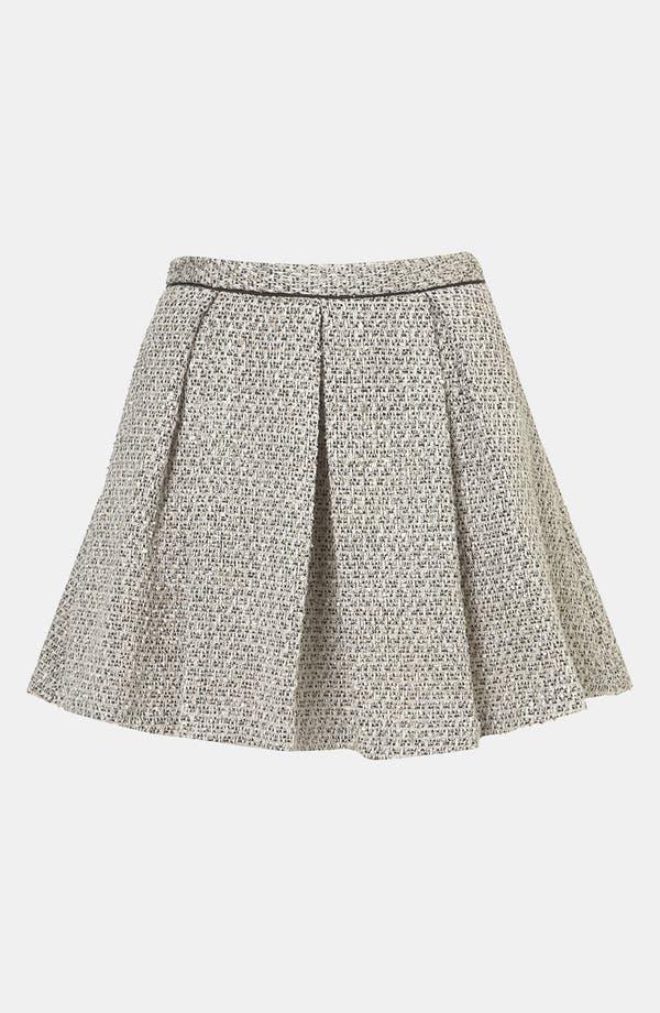 Main Image - Topshop Pleated Bouclé Skirt