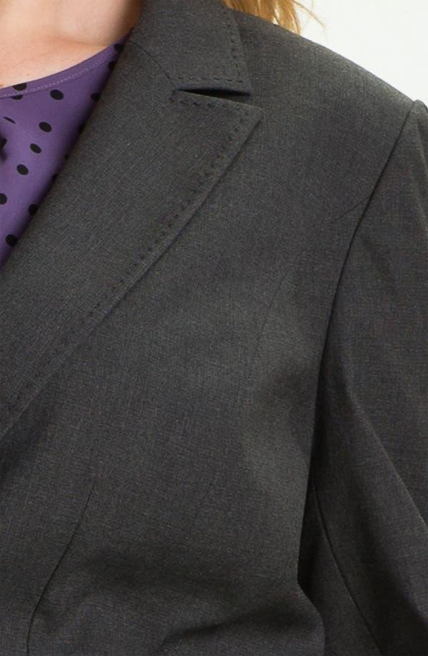 Alternate Image 3  - Sejour Smokey Dobby Suit Jacket (Plus)