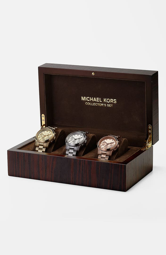 how to set a michael kors watch time