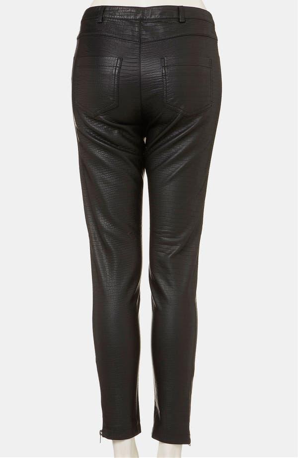 Alternate Image 2  - Topshop 'Howard' Croc Embossed Faux Leather Pants