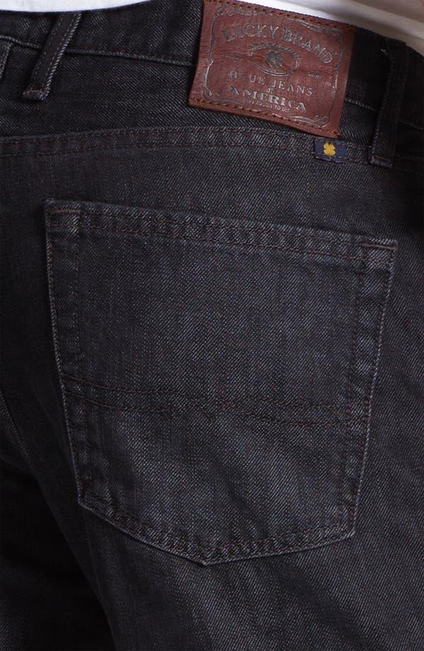 Alternate Image 4  - Lucky Brand Straight Leg Jeans (Dark Sumner)