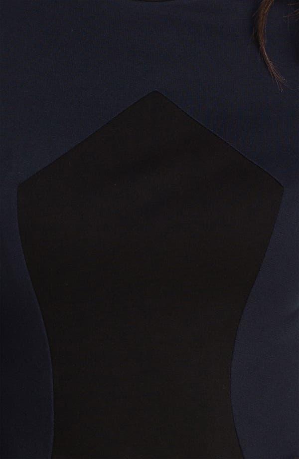 Alternate Image 3  - ABS by Allen Schwartz Two Tone Knit Sheath Dress