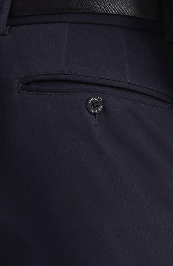Alternate Image 3  - Armani Collezioni Jersey Stretch Slim Fit Trousers