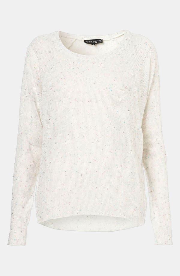 Main Image - Topshop Confetti Speckle Sweater (Petite)