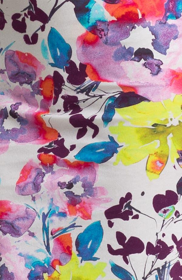 Alternate Image 3  - Alice + Olivia 'Tabitha' Floral Print Jersey Dress