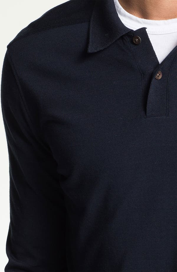 Alternate Image 3  - Vince Long Sleeve Silk & Cotton Polo