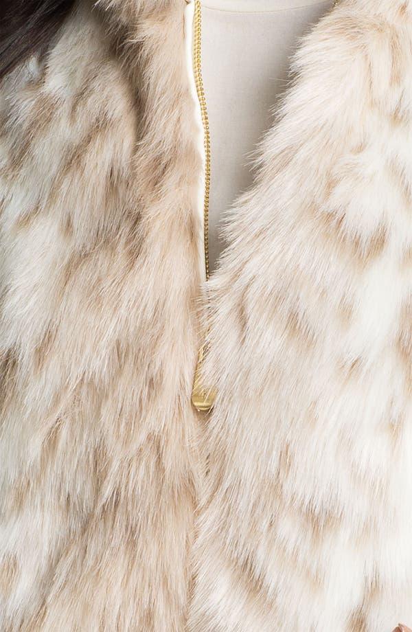Alternate Image 3  - Ellen Tracy Faux Snow Leopard Fur Vest (Plus)