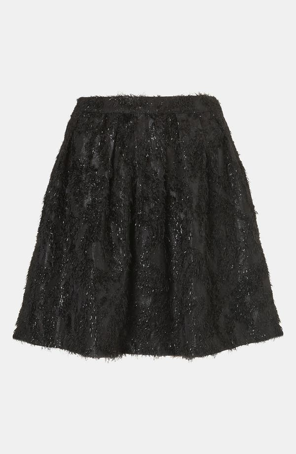Main Image - Topshop Metallic Feather Skater Skirt