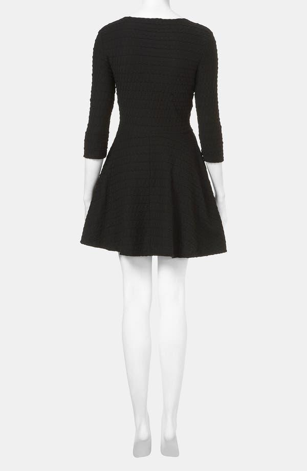 Alternate Image 2  - Topshop Textured Skater Dress