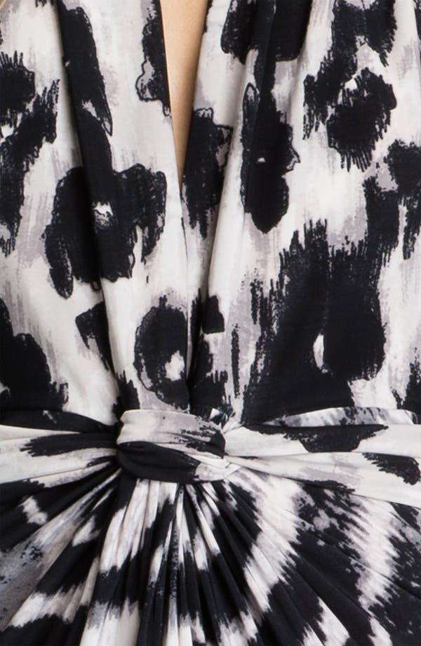 Alternate Image 3  - Tbags Los Angeles V-Neck Printed Halter Maxi Dress