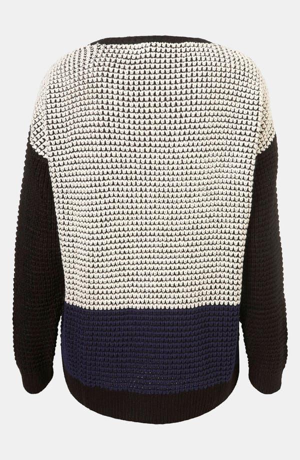 Alternate Image 2  - Topshop Colorblock Sweater