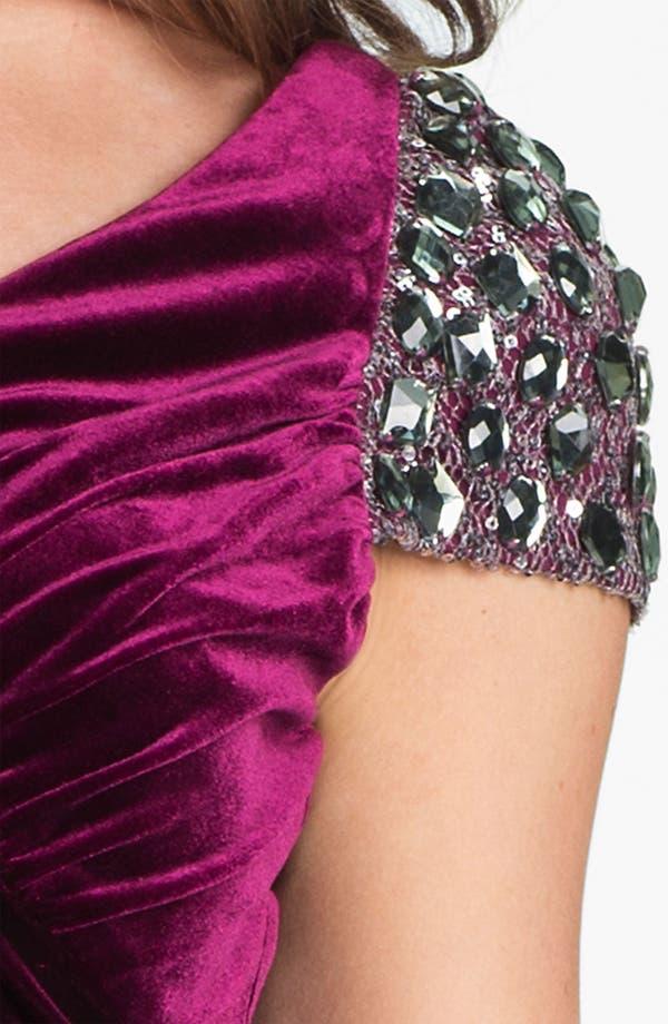 Alternate Image 3  - Hailey by Adrianna Papell Embellished Cap Sleeve Velvet Dress