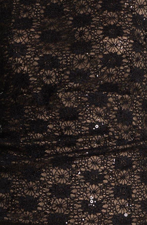 Alternate Image 3  - Alex Evenings Cap Sleeve Lace Column Gown