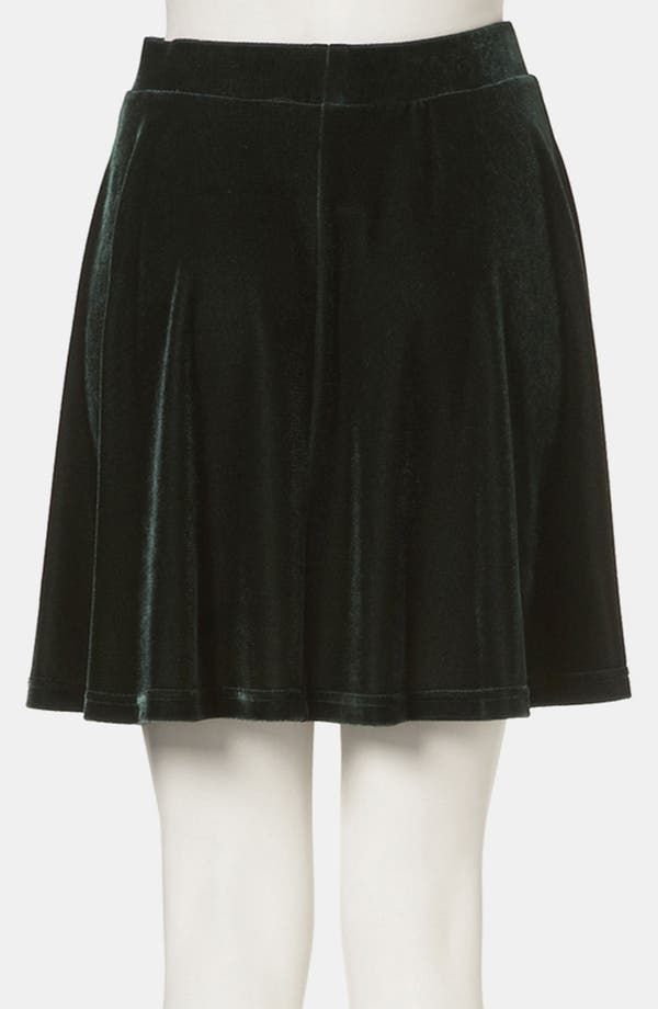 Alternate Image 3  - Topshop Velour Skater Skirt