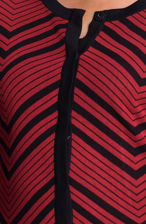 Alternate Image 3  - Exclusively Misook Jewel Neck Herringbone Pattern Jacket (Plus)