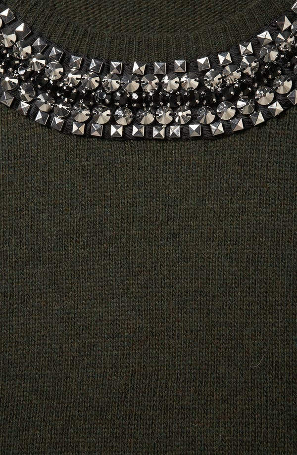 Alternate Image 3  - Topshop Rhinestone Trim Sweater