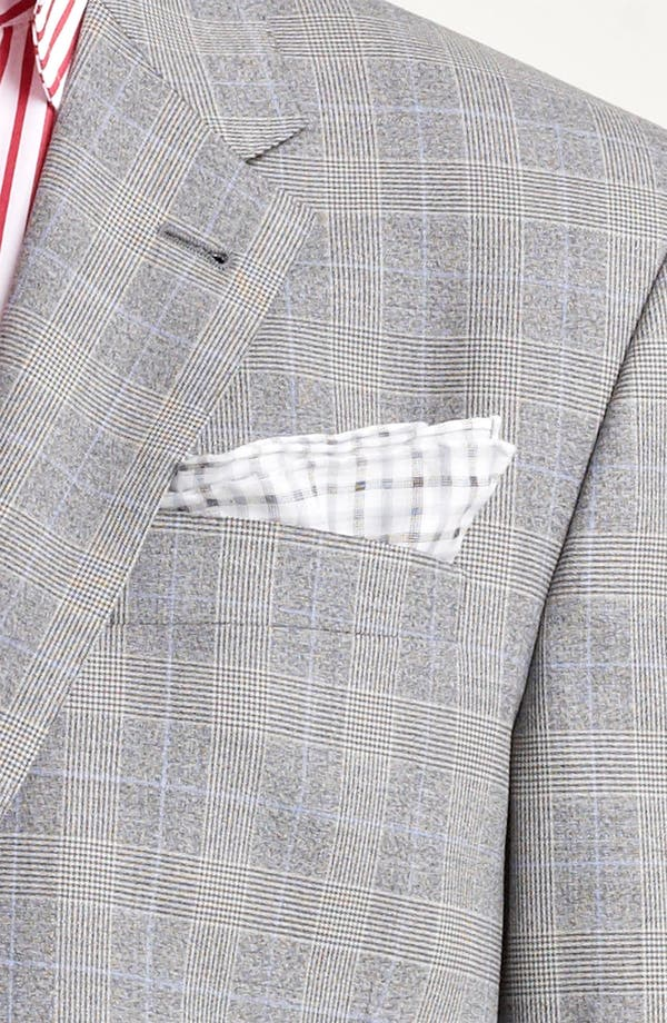 Alternate Image 6  - Paul Smith London Slim Fit Glen Plaid Wool Suit