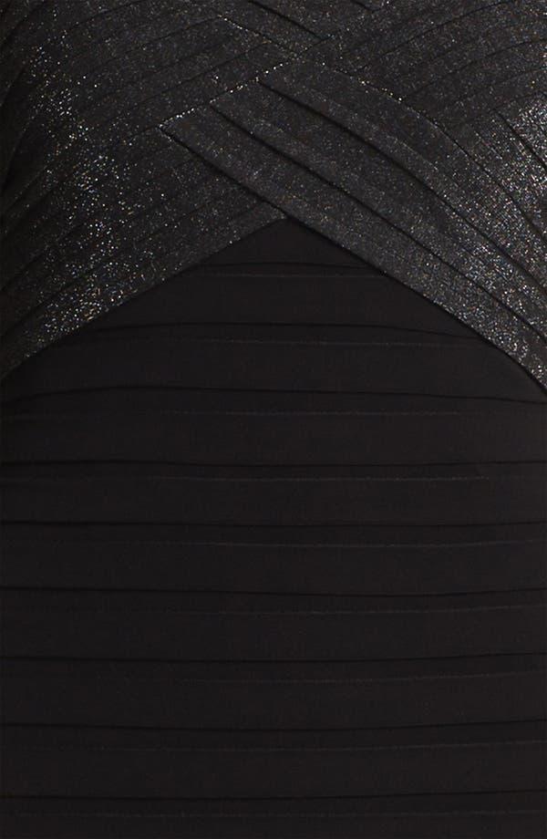 Alternate Image 3  - Adrianna Papell Metallic Pleated Sheath Dress