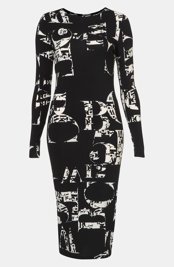 Alternate Image 1 Selected - Topshop 'Clutter Font' Print Dress