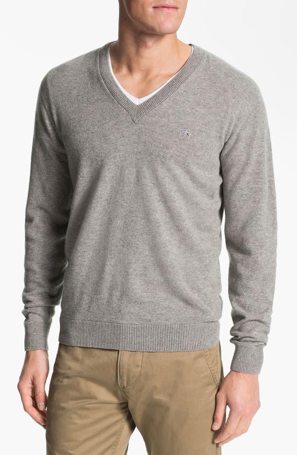 Alternate Image 1 Selected - Lacoste 'Noel' V-Neck Cashmere Sweater