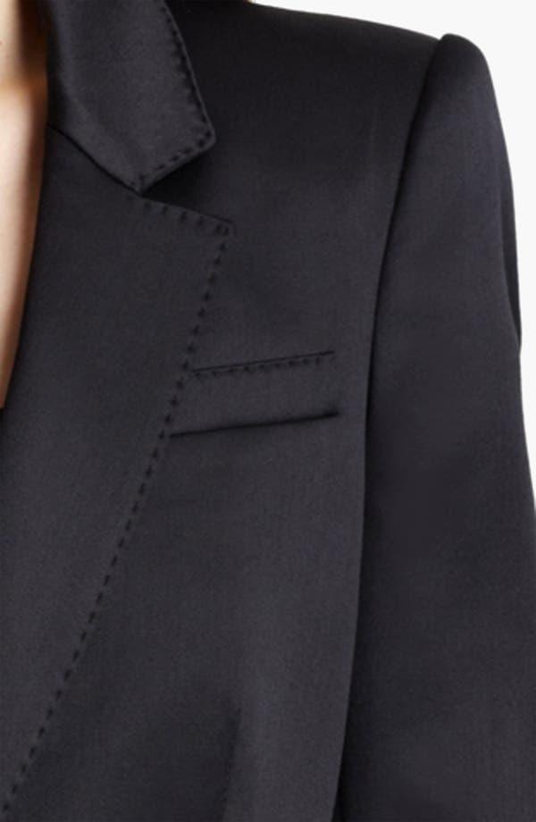 Alternate Image 3  - Burberry London Satin Tuxedo Jacket
