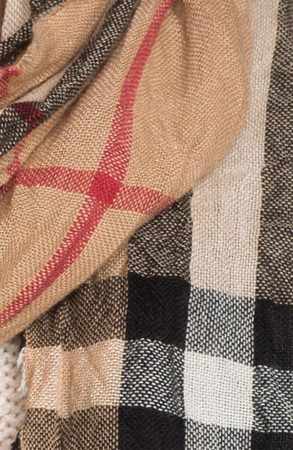 Alternate Image 2  - Burberry Giant Check Crinkled Scarf