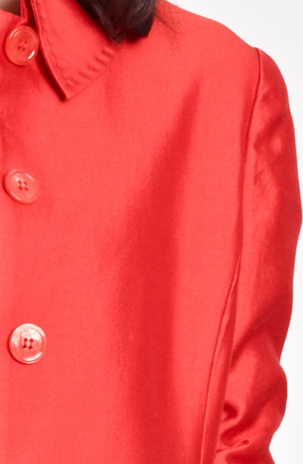 Alternate Image 3  - Armani Collezioni Ruched Sleeve Coat
