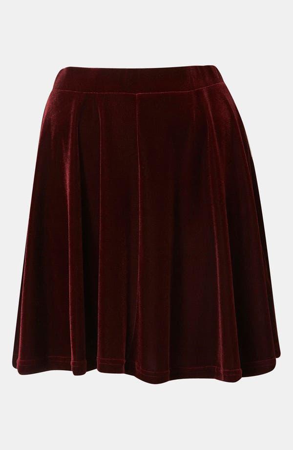 Main Image - Topshop Velour Skater Skirt