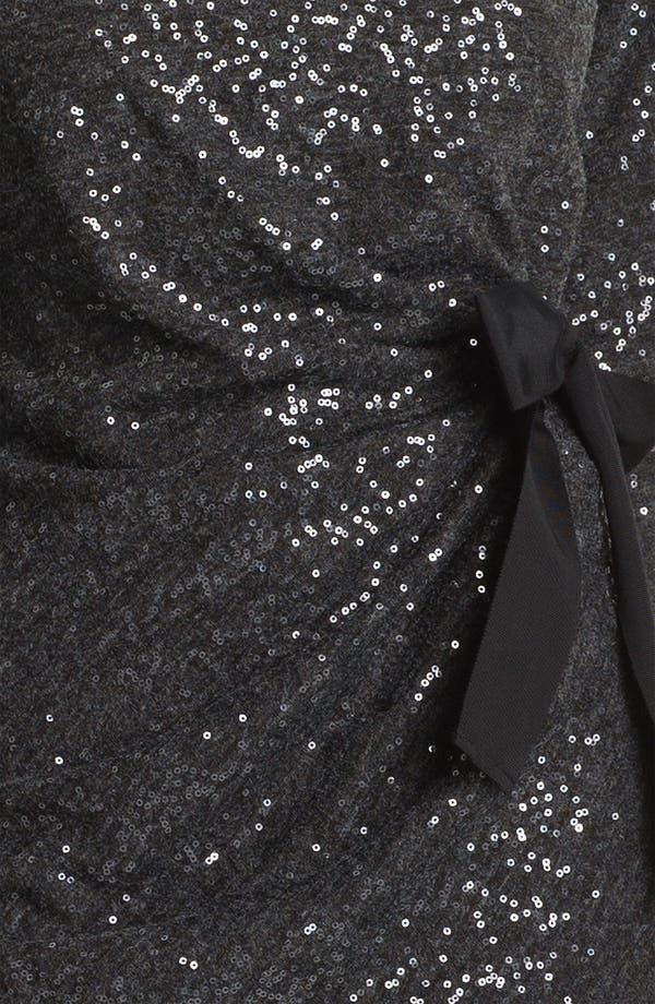 Alternate Image 3  - Taylor Dresses Side Tie Sequin Sweater Dress